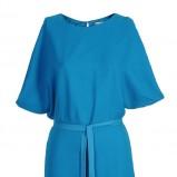 niebieska sukienka Stefanel z paseczkiem - trendy na jesień 2013