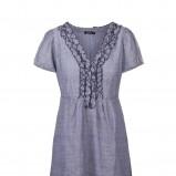 niebieska sukienka Tatuum z falbanami - lato 2012