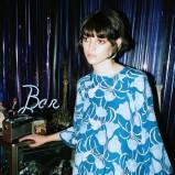 niebieska sukienka Topshop we wzorki - jesień 2013