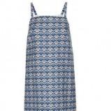 niebieska sukienka Topshop we wzorki - styl vintage na jesień