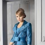 niebieska sukienka wieczorowa Higar bombka - trendy 2012