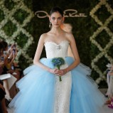 niebieska suknia ślubna Oscar de la Renta