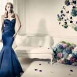 Niebieska suknia wieczorowa - Zac Posen