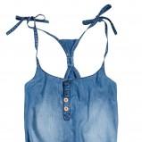 niebieski kombinezon Reserved dżinsowy - trendy wiosna-lato