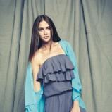 niebieski kombinezon Vero Moda z falbanami - moda 2012