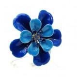 niebieski pierścionek Me'amoore z kwiatem - wiosna/lato 2011