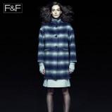 niebieski płaszcz F&F oversize - jesień 2013
