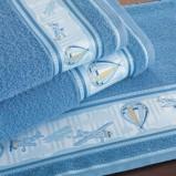 niebieski ręcznik Kids Town
