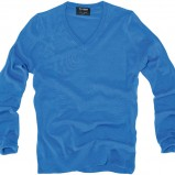 niebieski sweter Pull and Bear - kolekcja wiosenno/letnia