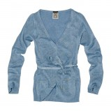 niebieski sweter Pull and Bear rozpinany - moda 2011