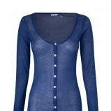 niebieski sweter Stradivarius rozpinany - wiosna-lato 2011