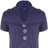 niebieski sweter Tally Weijl z guzikami - jesień 2011