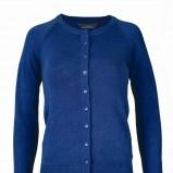 niebieski sweter Top Secret rozpinany - moda jesienna