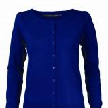 niebieski sweter Top Secret rozpinany - trendy zimowe