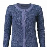 niebieski sweter Top Secret w panterkę - jesień-zima 2010/2011