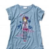 niebieski t-shirt Geox z nadrukiem - wiosna/lato 2012