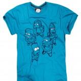 niebieski t-shirt House z nadrukiem - moda jesienna