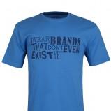 niebieski t-shirt Top Secret z nadrukiem - z kolekcji wiosna-lato 2012
