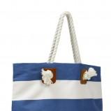niebieski torebka H&M w paski - wiosna-lato 2011