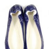 niebieskie baleriny Venezia z wężowej skóry - kolekcja wiosenno/letnia