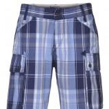 niebieskie bermudy Troll w kratkę - moda wiosna/lato