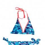 niebieskie bikini Moodo w plamy - moda plażowa 2013
