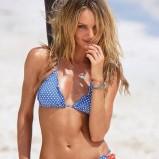 niebieskie bikini Victorias Secret w groszki - kolekcja letnia