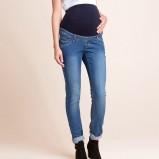 niebieskie jeansy C&A ciążowe - jesień-zima 2014/2015