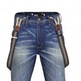 niebieskie jeansy New Yorker z przetarciami - moda 2011/2012