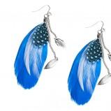 niebieskie kolczyki Glitter z piórami - wiosna/lato 2012