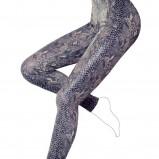 niebieskie legginsy Calzedonia z wężowej skóry - kolekcja jesienno-zimowa