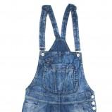 niebieskie ogrodniczki C&A - moda wiosna/lato