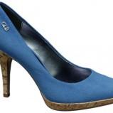 niebieskie pantofle Deichmann na obcasie - wiosna/lato 2011