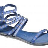 niebieskie sandałki Badura płaskie - lato 2013
