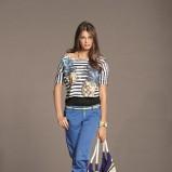 niebieskie spodnie Orsay z paskiem - wiosna/lato 2012