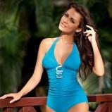 niebieskie strój kąpielowy Mewa Styl z ozdobami - lato 2011