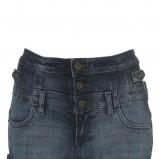 niebieskie szorty Topshop z wysokim stanem - letnia kolekcja