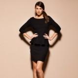 Niesamowita czarna sukienka wieczorowa Motivi  kolekcja jesienno-zimowa