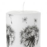 Nowoczesna świeca w kolorze bieli subtelnie zdobiona -  Shopalike 2013