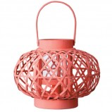 Nowoczesny  lampion ogrodowy w kolorze łososiowym -  Shopalike 2013