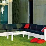 Nowoczesny skórzany wypoczynek ogrodowy - marka Patt Mebel
