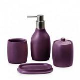 Nowoczesny zestaw toaletowy w kolorze fioletowym- łazienka z home@you