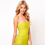 obcisła sukienka Asos - neonowa limonka