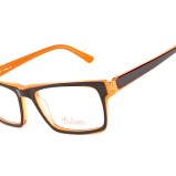 okulary Belutti w kolorze brązowym - kolorowe oprawki