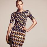 ołówkowa spódnica H&M we wzory - modne spódniczki