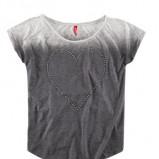 ombre t-shirt H&M w kolorze popielatym - zima 2012/2013