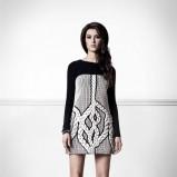 oryginalna sukienka Bizuu w kolorze szarym - moda dla kobiet 2012