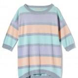 pastelowy sweterek House w pasy - jesienna kolekcja 2013