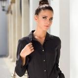 Piękna czarna koszula Heppin podkreślająca talię kolekcja jesienno-zimowa 2012/13