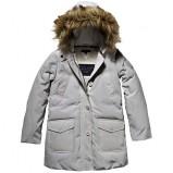 Piękna kurtka Tommy Hilfiger szara z kapturem na jesień i zimę 2012- 2013